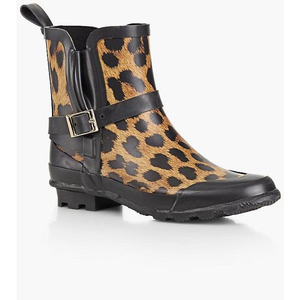 8ea5e8570564 Talbots Women's Juvia Rain Boots : Leopard Print ($90) ❤ liked on Polyvore  featuring shoes, boots, leopard print rubber boots, leopard rain boots,  leopard ...