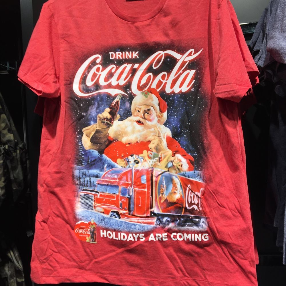 1b26b5e644ad4 Details about Primark Mens CHRISTMAS COCA COLA T Shirt HOLIDAYS ARE ...