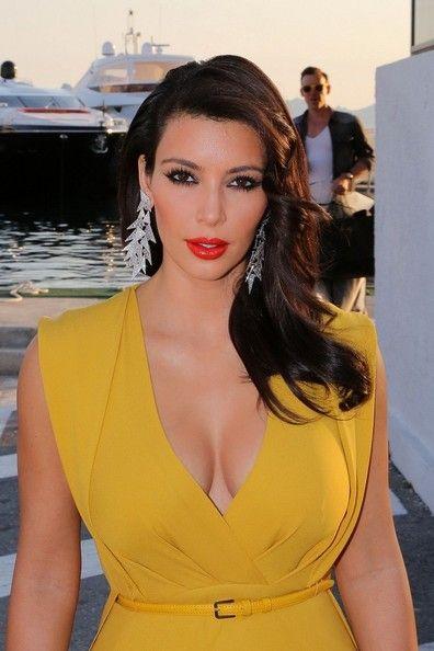 Kim Touches Up For Amfar Yellow Dress Kardashian Style Classy