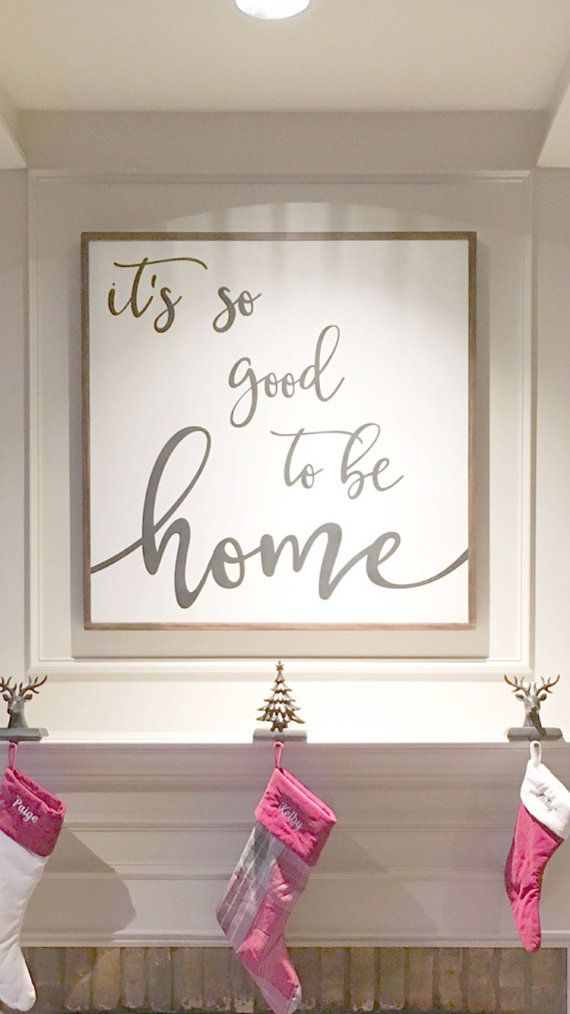 Home Good Decor | It S So Good To Be Home Sign Fixer Upper Home By Tuckerupandco For
