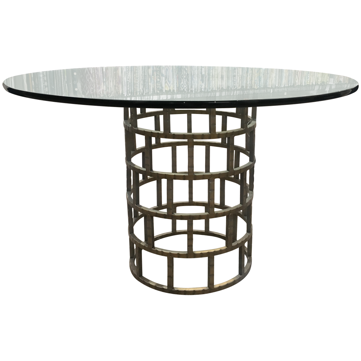 OLD BISCAYNE DESIGNS Adriano Round Glass Table