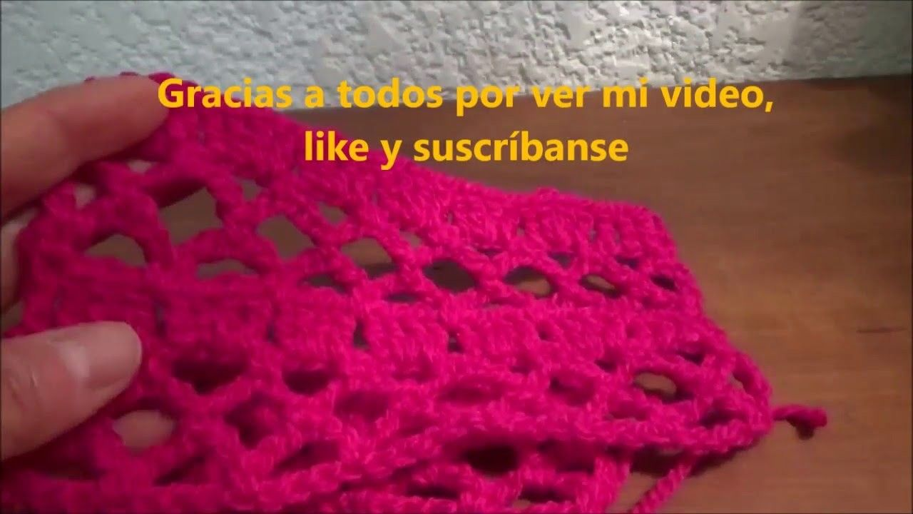 Puntada a crochet linda, sencilla y fàcil Muestra No. 4 | Puntadas ...