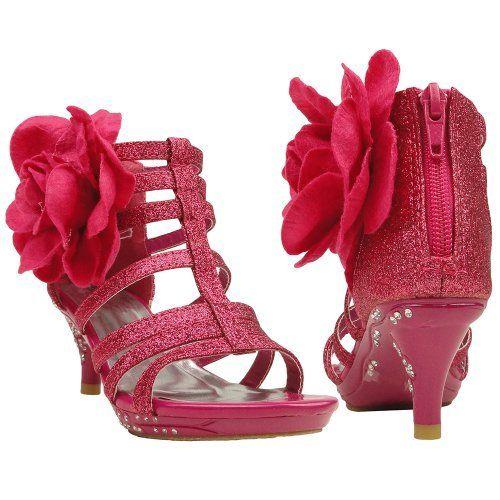 Kids Dress Sandals Strappy Glitter Fabric Flower Back Zipper Closure, http://www.amazon.com/dp/B00DCFR0P8/ref=cm_sw_r_pi_awdm_kLbbtb1MXBJCV