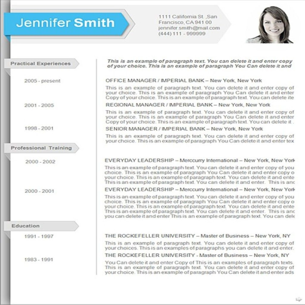 Word Template For Resume 2010. Word 2010 Resume Templates
