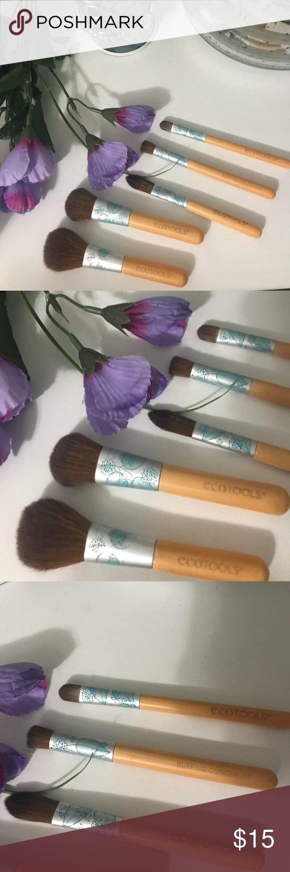 Eco Tools bamboo makeup brushes 5 piece set Bamboo