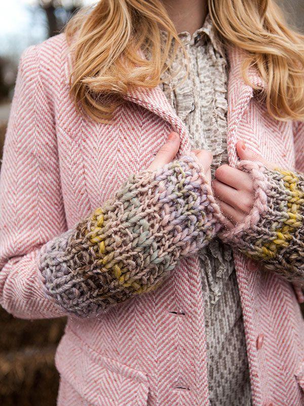 Emmett Fingerless Gloves Berroco Free Knit Pattern Pdf Just