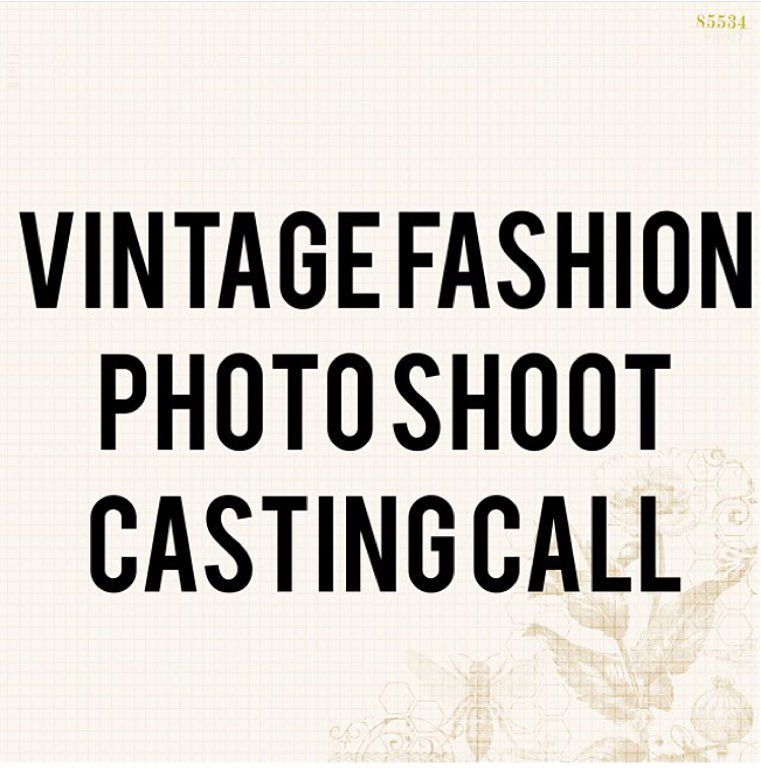 We are looking for models (all sizes) for a Vintage fashion photo shoot in the DMV area. TFP( time for prints) Full prints and possible publication.  If interested please send an email with headshot/body shot portfolio (if available)  and measurements sales@vintageworldrocks.com