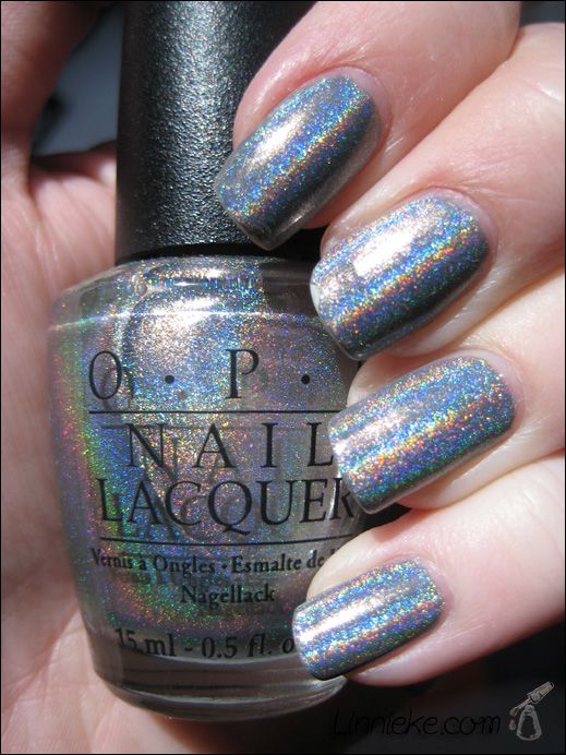 Opi Standing Room Only Sro Filled Above The Letters Beautiful Holographic Nail