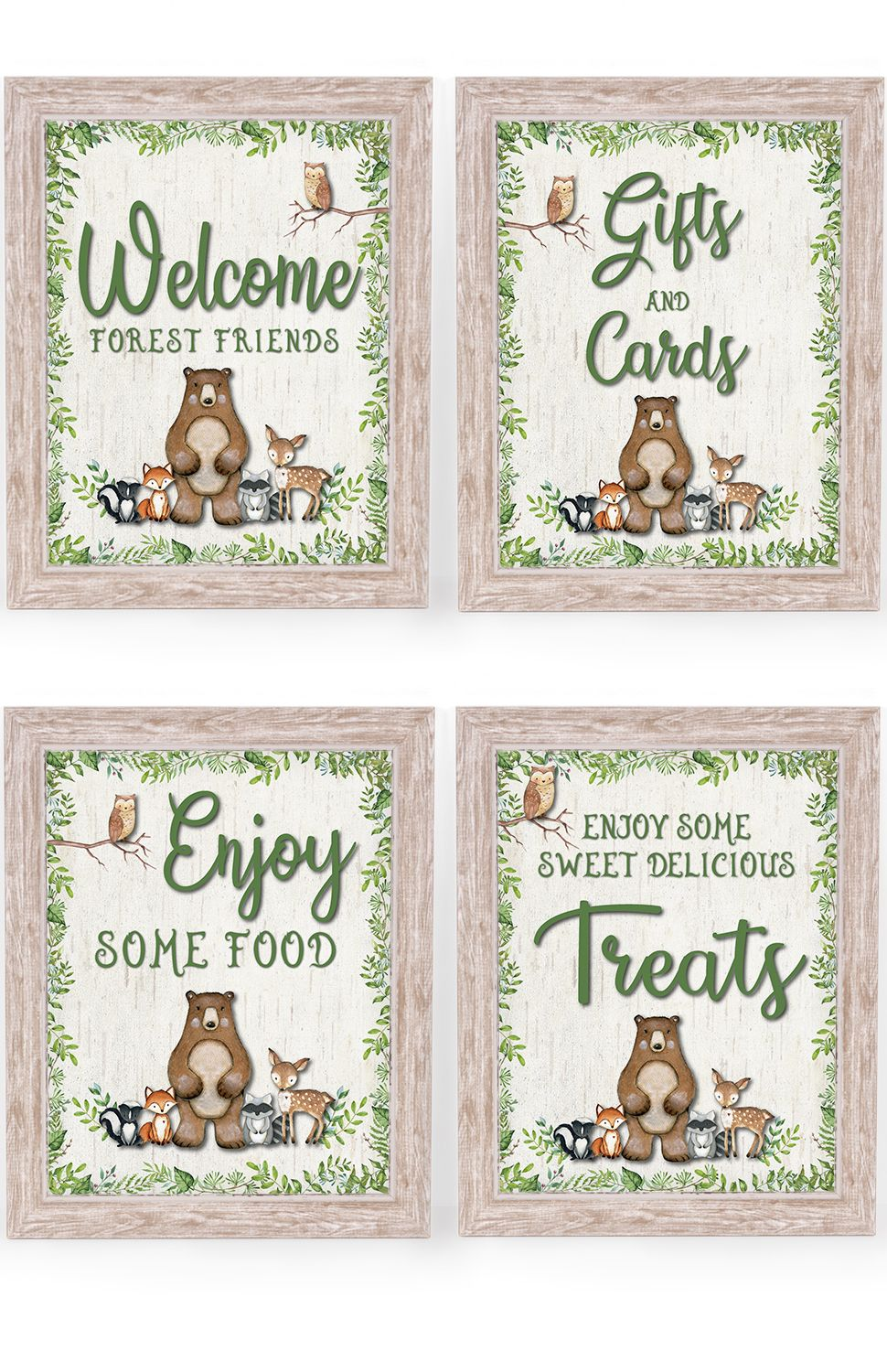 Woodland Baby Shower Decorations Super Cute For Forest Animals Theme B Woodland Creatures Baby Shower Woodland Baby Shower Decorations Animal Baby Shower Theme