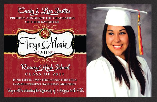 17 Best images about Goodbye High School – High School Graduation Invites