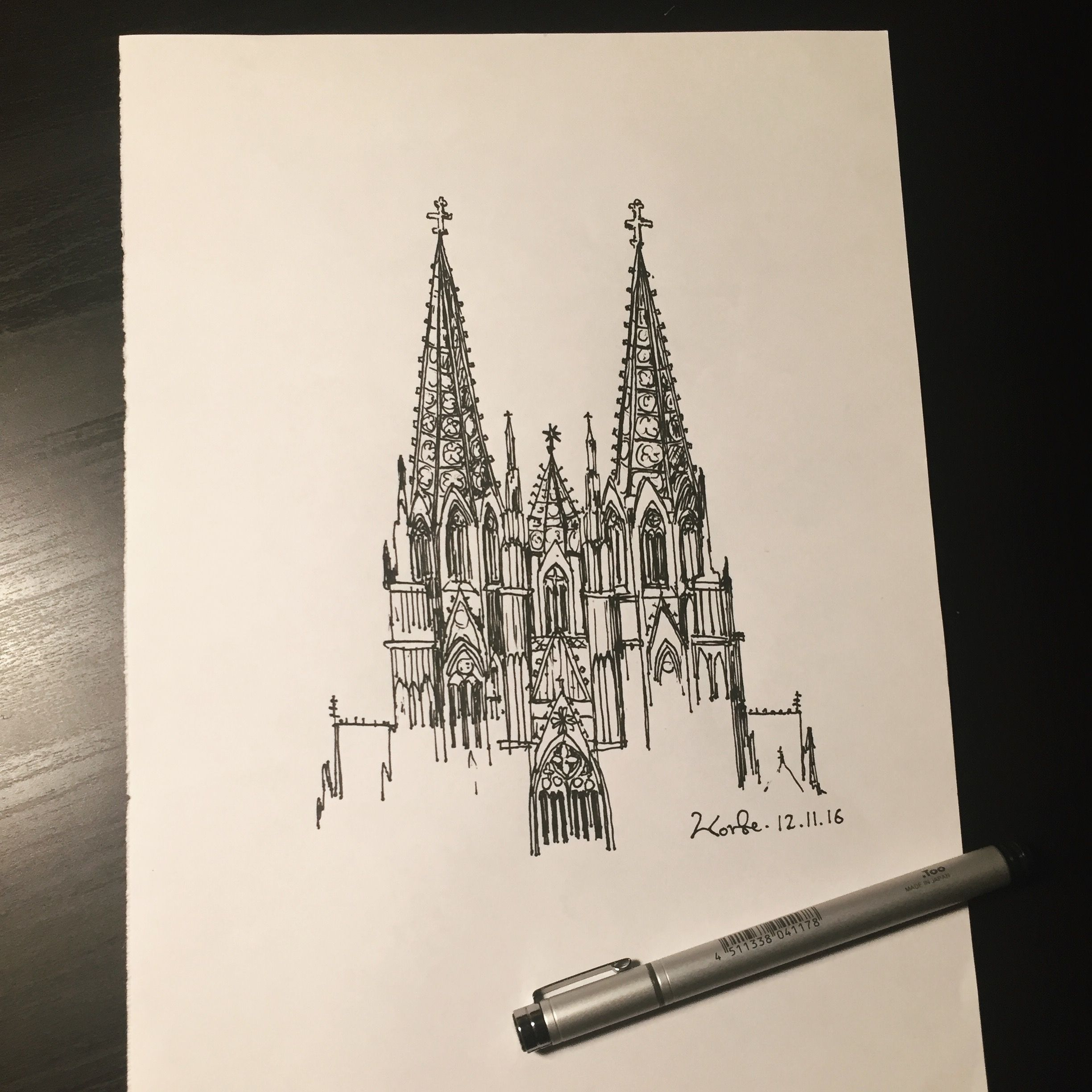 Cologne Cathedral Sketching Cathedral Tattoo Book Art Architecture Sketch