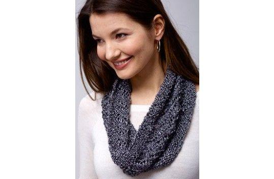 Patons® Metallic™ Spiral Cowl   Cowl knitting pattern ...