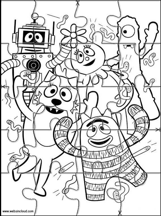 Puzzles rompecabezas recortables para imprimir Yo Gabba Gabba 6