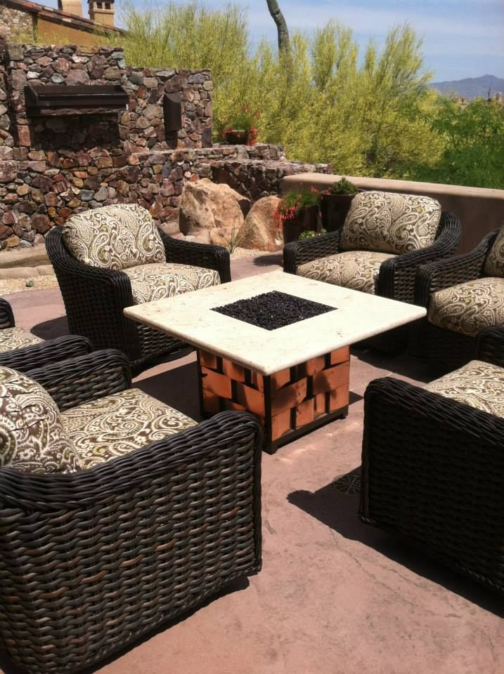 Backyard ideas - custom firepit tables by AZ Backyard Custom