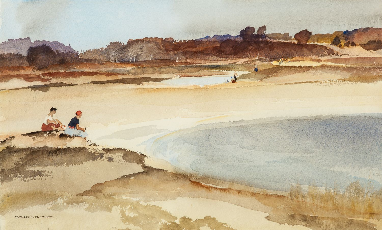 Russell Flint Original, bathers, watercolour, Painting
