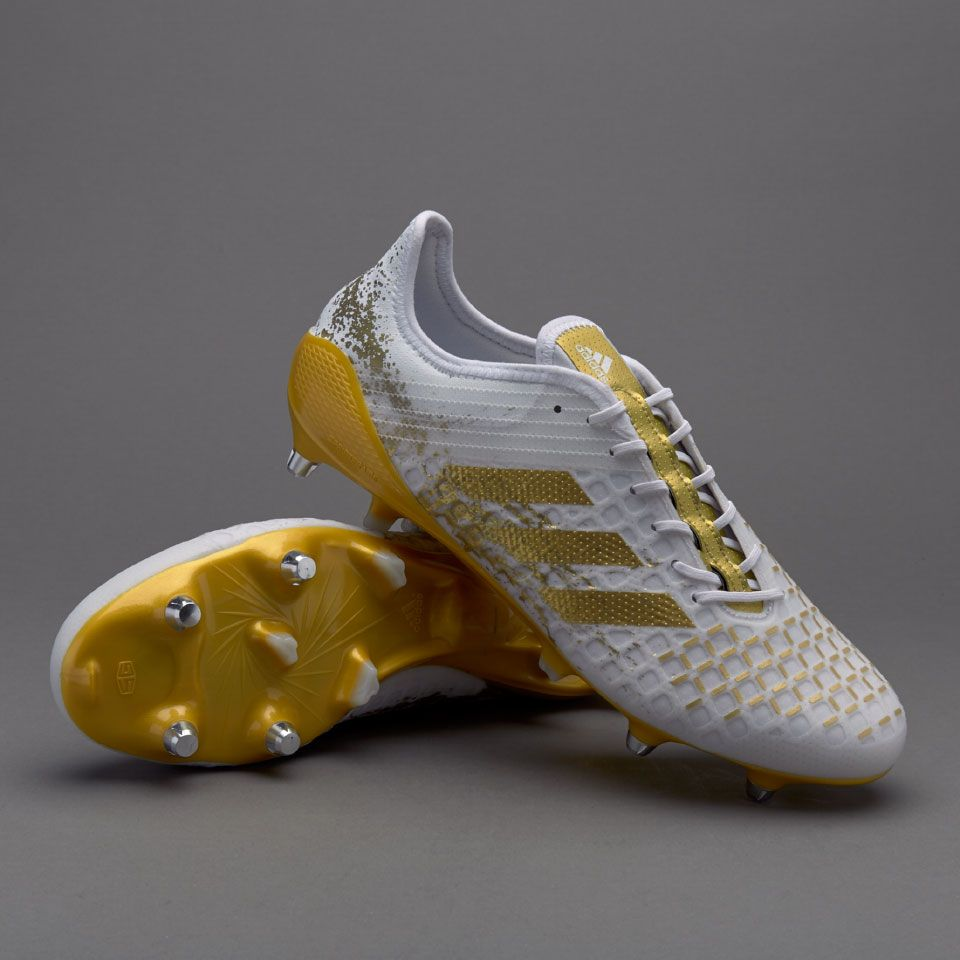 Adidas Predator Malice Control Sg White Gold Metallic White Mens Boots Soft Ground Adidas Predator Rugby Boots Boots Men