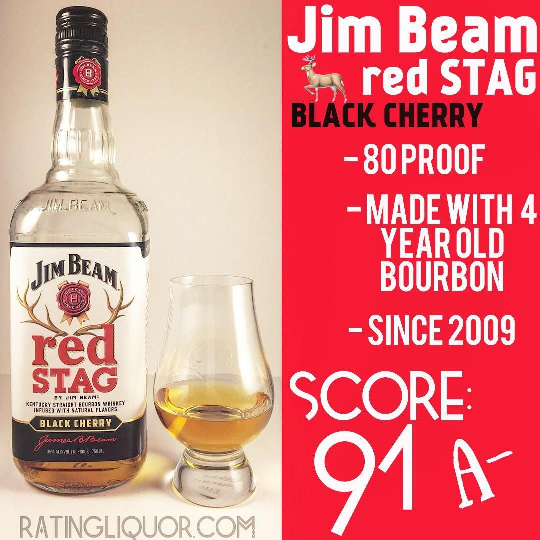 Jim Beam Red Stag Black Cherry A Classic In The Flavored Whiskey Market Let S Get To The Bottom Of This One Bros In 2020 Whiskey Cinnamon Flavor Natural Flavors