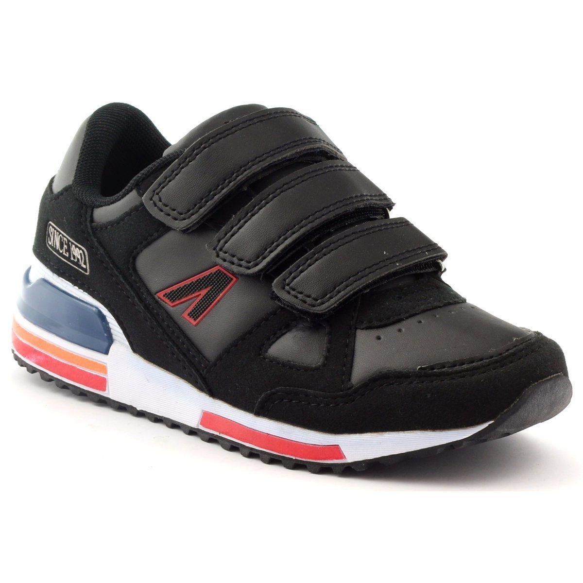 American Club Buty Sportowe Na Rzepy American 4594 Czarne Czerwone Biale Dc Sneaker Sneakers Shoes