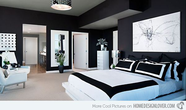 15 Black And White Bedroom Ideas Home Design Lover White Interior Design Bedroom White Bedroom Design White Bedroom Decor