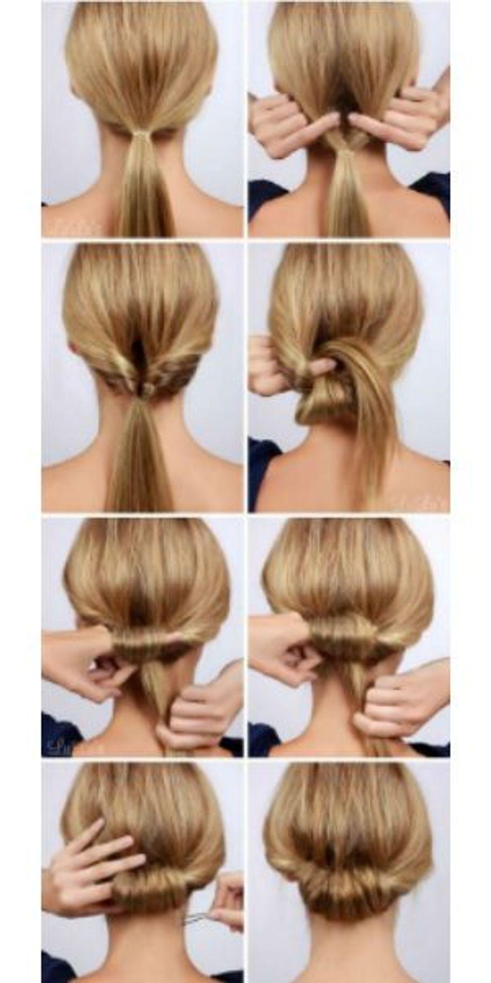 Chignon classique : comment faire un chignon classique | Coiffure facile, Tutoriel de coiffure ...