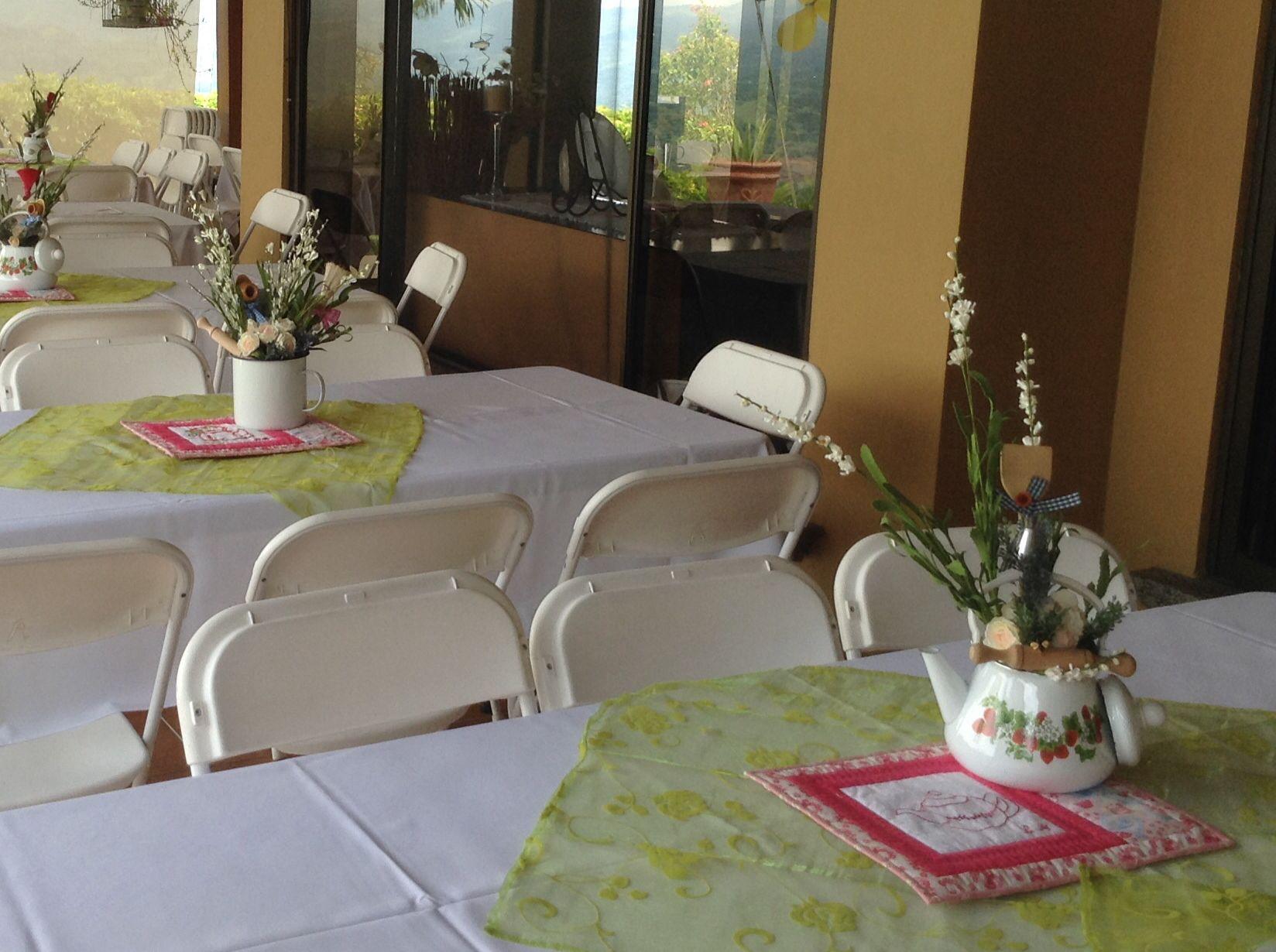 Centros de mesa para te de cocina, con individuales en quilting y ...