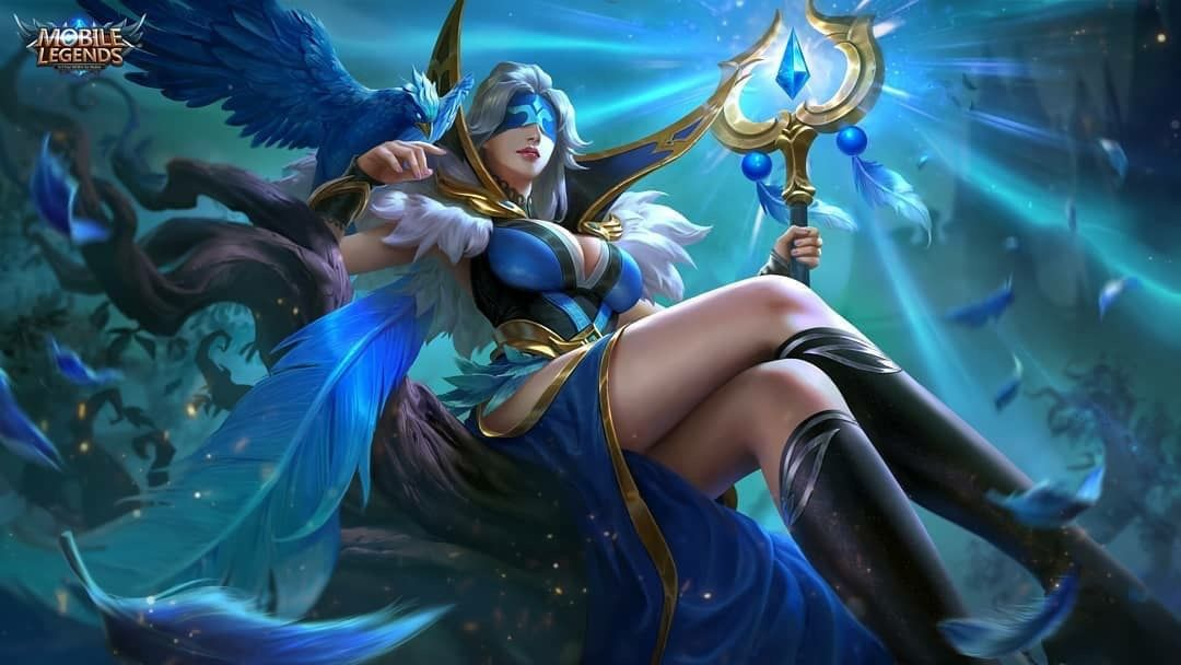 Pharsa Indigo Aviatrix Wallpaper | Mobile legend wallpaper