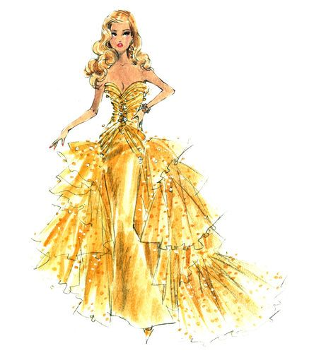 "BARBIE Robert Best print ""Golden Girl"""