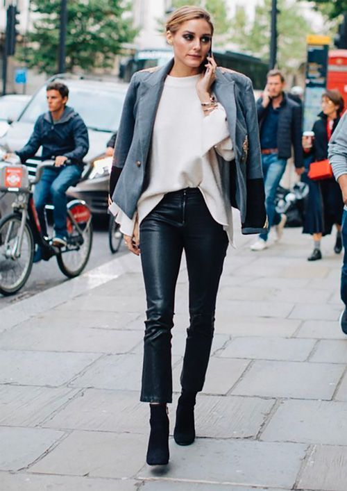 How to wear cropped leather pants? - TrendSurvivor #leatherpantsoutfit