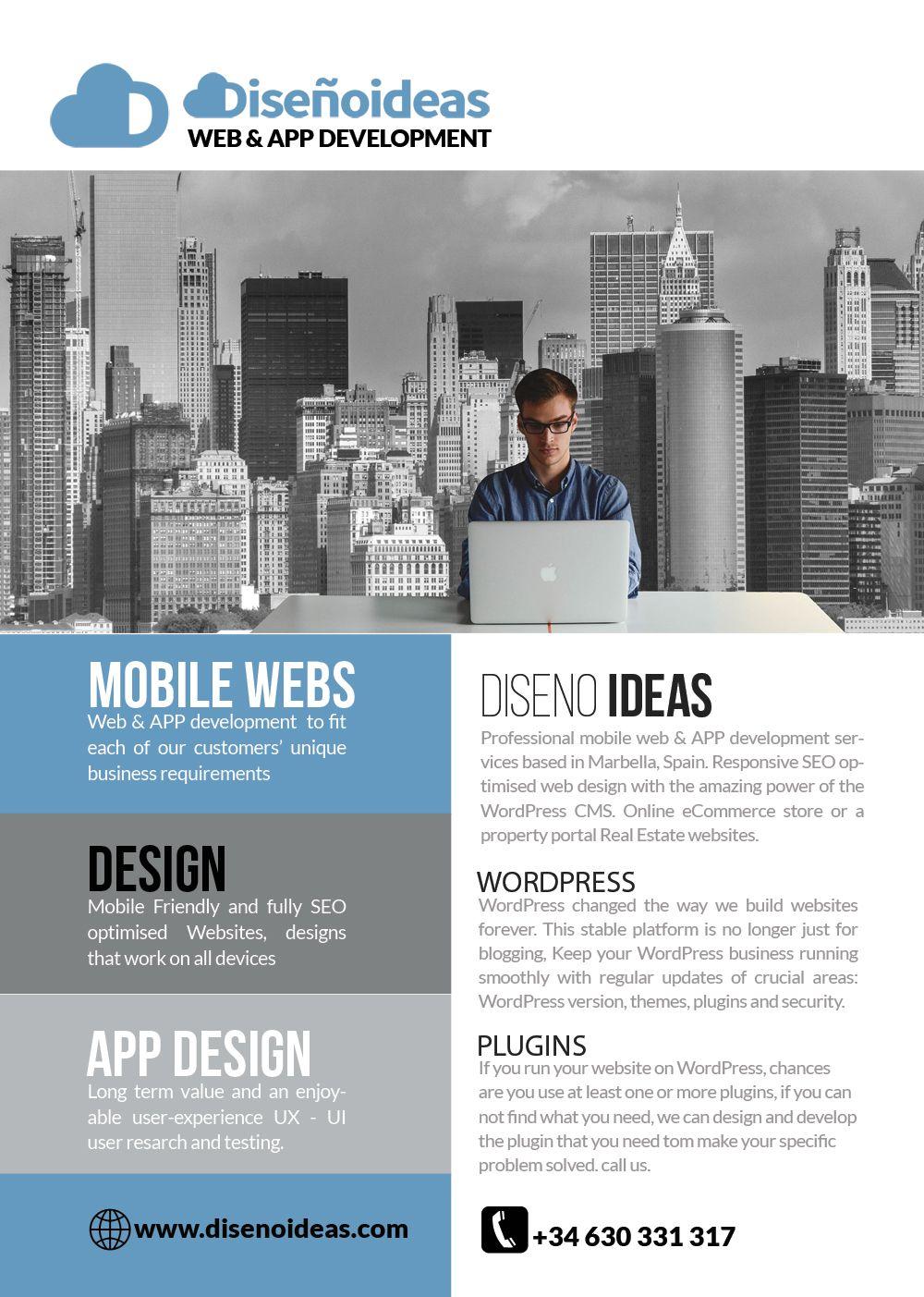 Mobile Web & APP Design, website Development Disenoideas Marbella