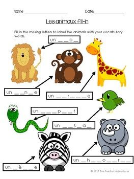 Les Animaux 33 Page French Animal Unit Reading Writing Listening And Speaking Activities Vocabulary Activities Teacher Adventure Animal Quiz