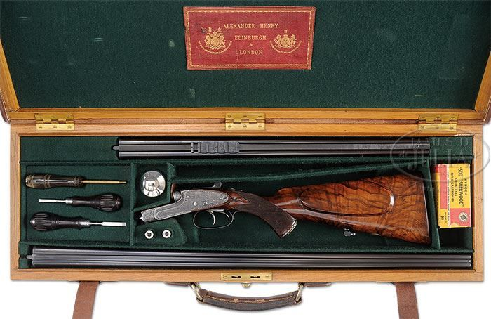 Wonderful Little Alexander Henry Sidelock Ejector Double Rifle In