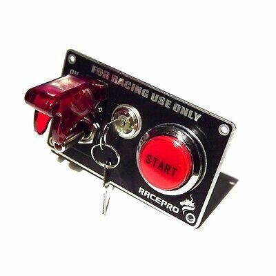 Ignition Switch Panel Push Button Engine Start With Key Toggle Racing Car 12v Car Gauges Engine Start Car Mods