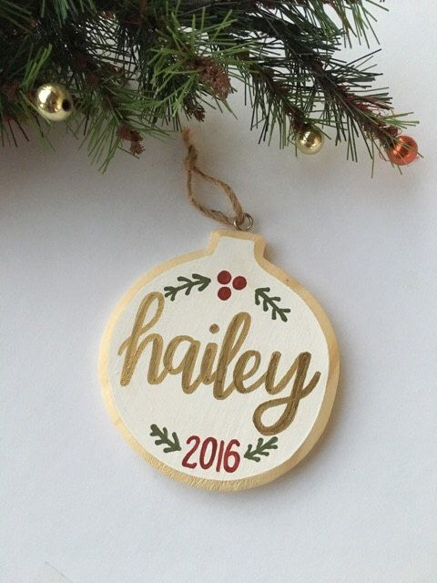 Personalized Ornament Name Ornament Christmas Ornament Wood