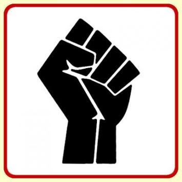 The Clinched Fist Is A Symbol Of Solidarity And Support Of The