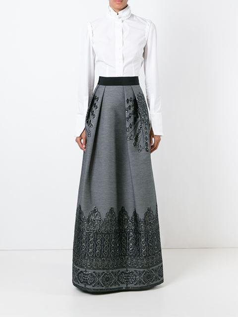 3e6866d9d falda larga con pliegues ALBERTA FERRETTI | ropa | Faldas, Faldas ...