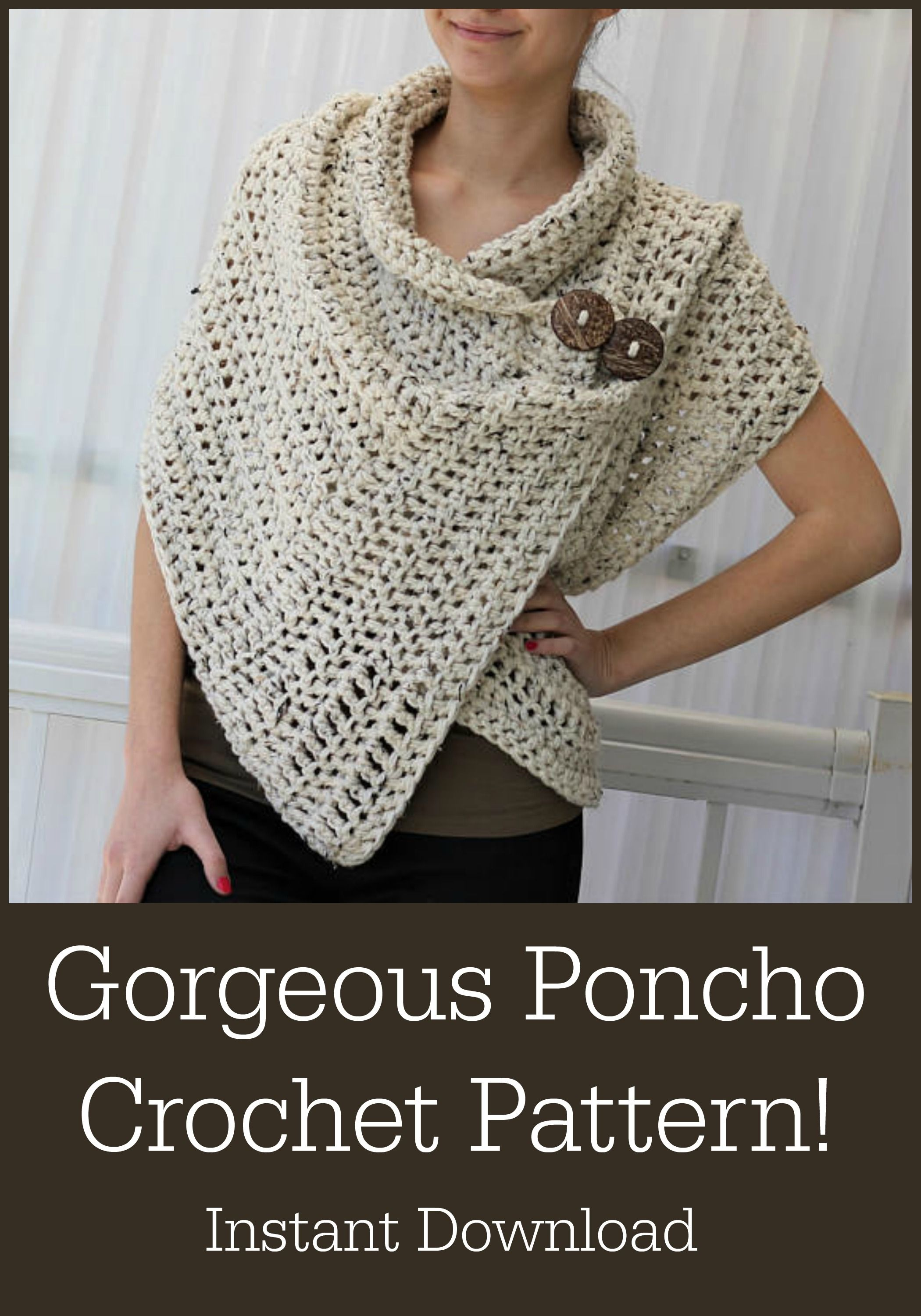 How to make a poncho with your own hands The two easiest options