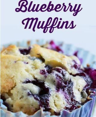 100-Calorie Blueberry Muffins in 2019 | Cake | Breakfast