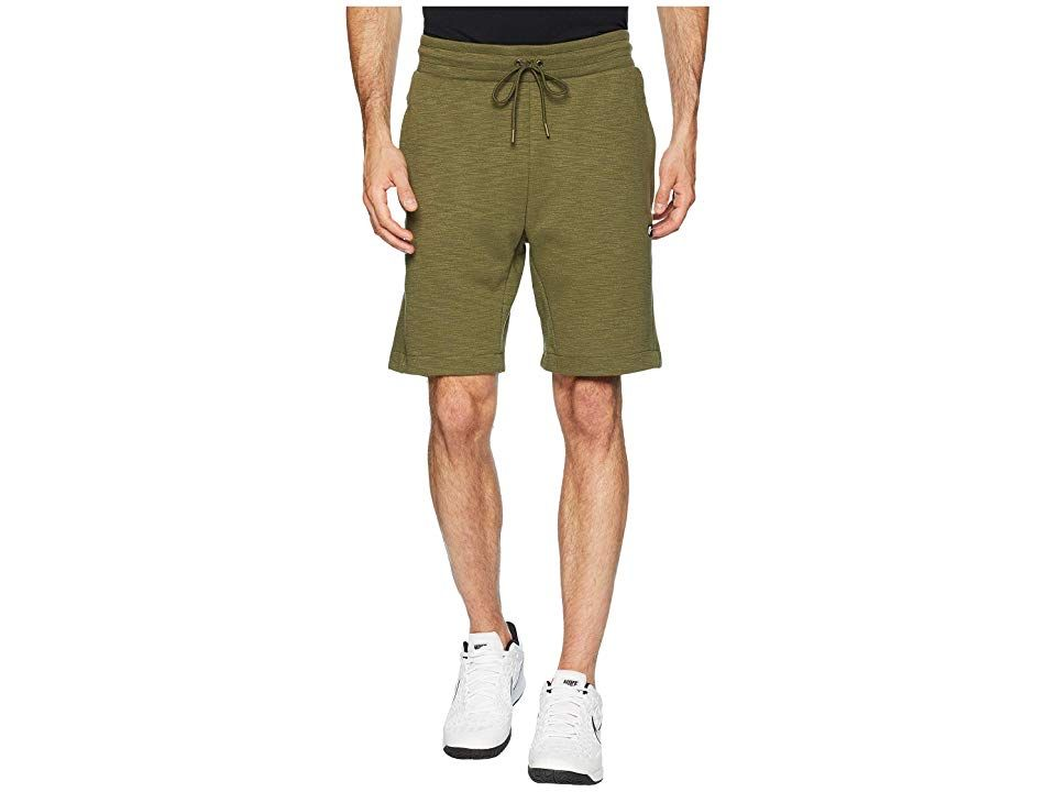 Nike NSW Optic Shorts Olive CanvasHeather Mens Shorts Stay classy with these Nike NSW Optic Shorts Athletic fit is eased but not sloppy and perfect for any activity Elast...