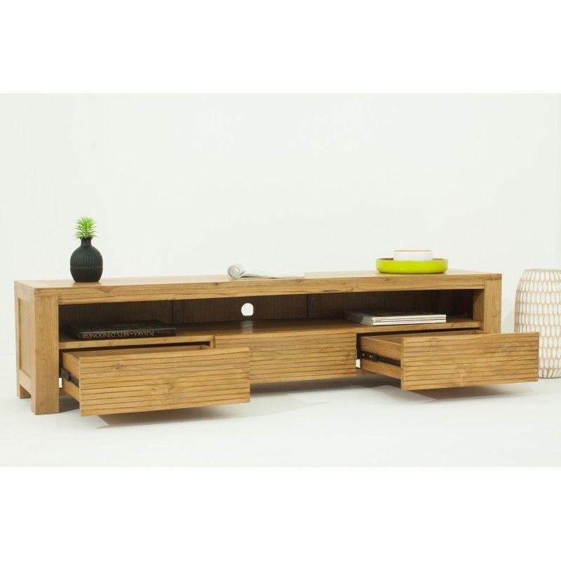 meuble tv bas contemporain 170 cm alisa