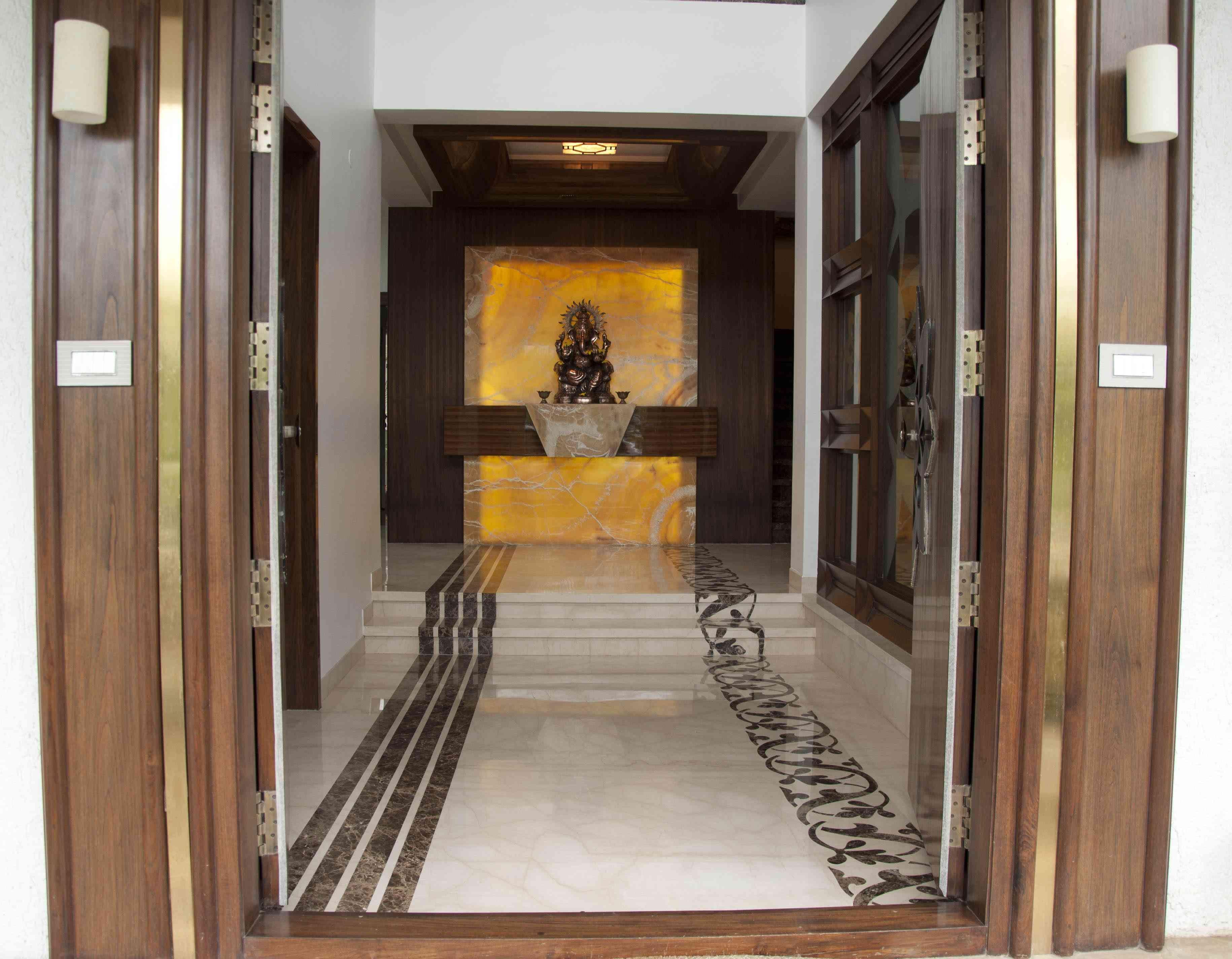 Pooja Mandir For Home Design By Architect: Samanth Gowda, India.