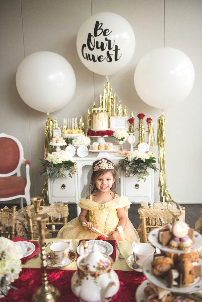 Princess Belle Room Decor The Most Beautiful Royal Belle Tea Party Ideas  Princess Planner