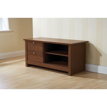 fuse tv unit walnut at homebase be inspired and make. Black Bedroom Furniture Sets. Home Design Ideas