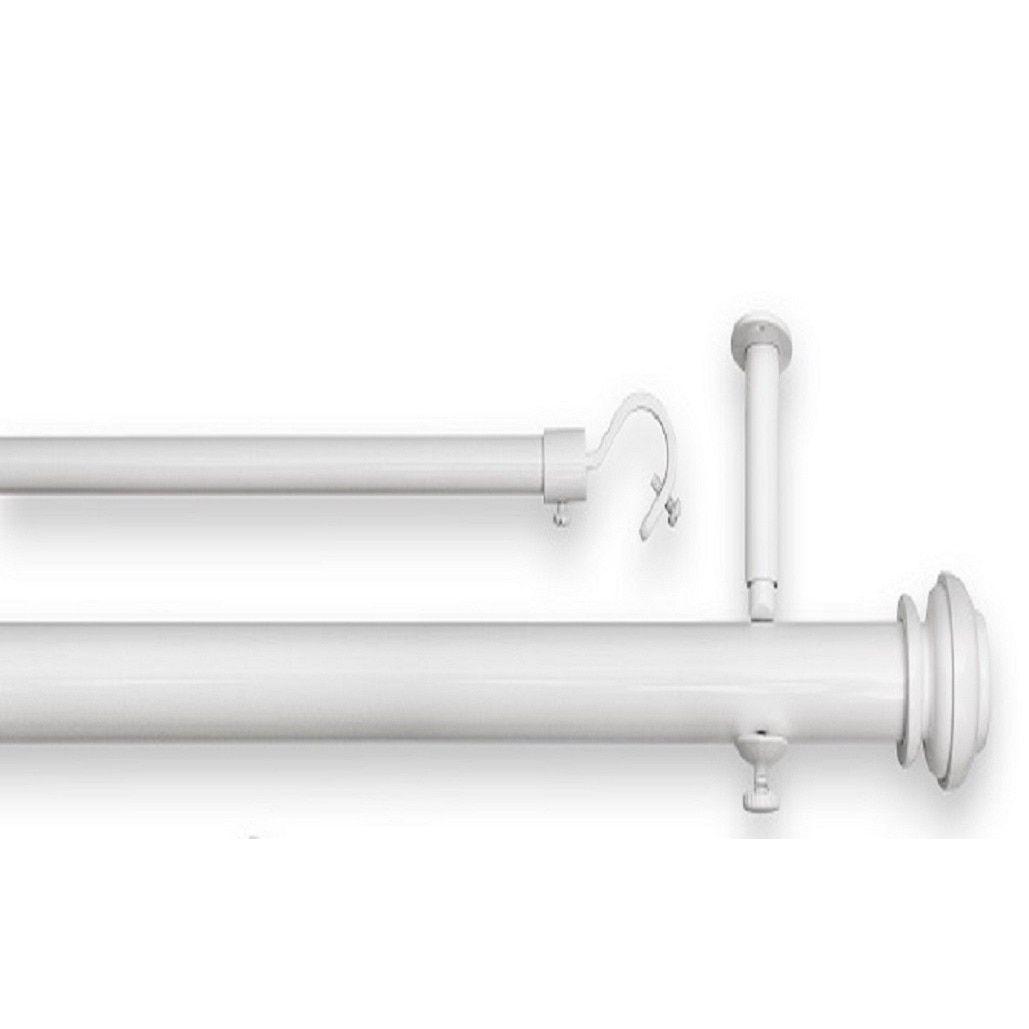 Pinnacle Bold Pole Double 90 To 144 Inch Adjustable Window Rod Set