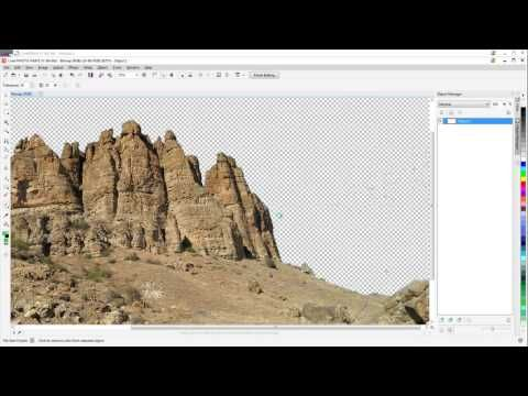 COREL DRAW X7 TUTORIAL - REMOVING A BACKGROUND - COLOR