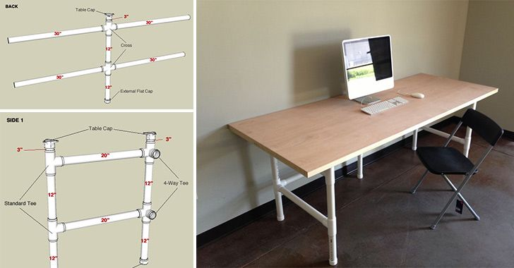 How to Make PVC Pipes Table - DIY & Crafts - Handimania ...