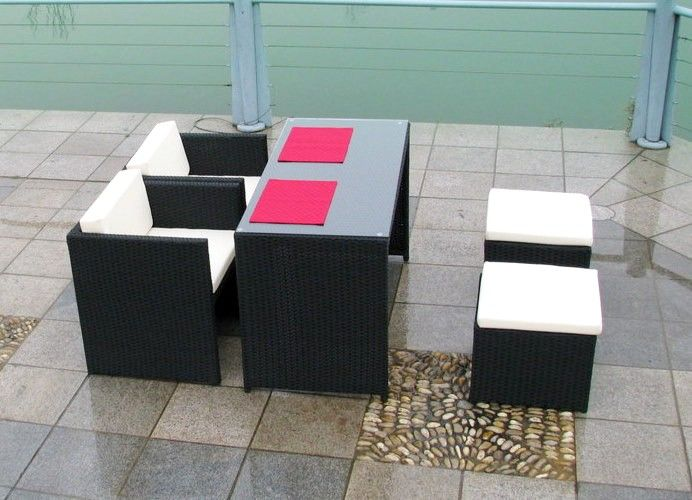 polyrattan esstisch set abelando balkonm bel set. Black Bedroom Furniture Sets. Home Design Ideas