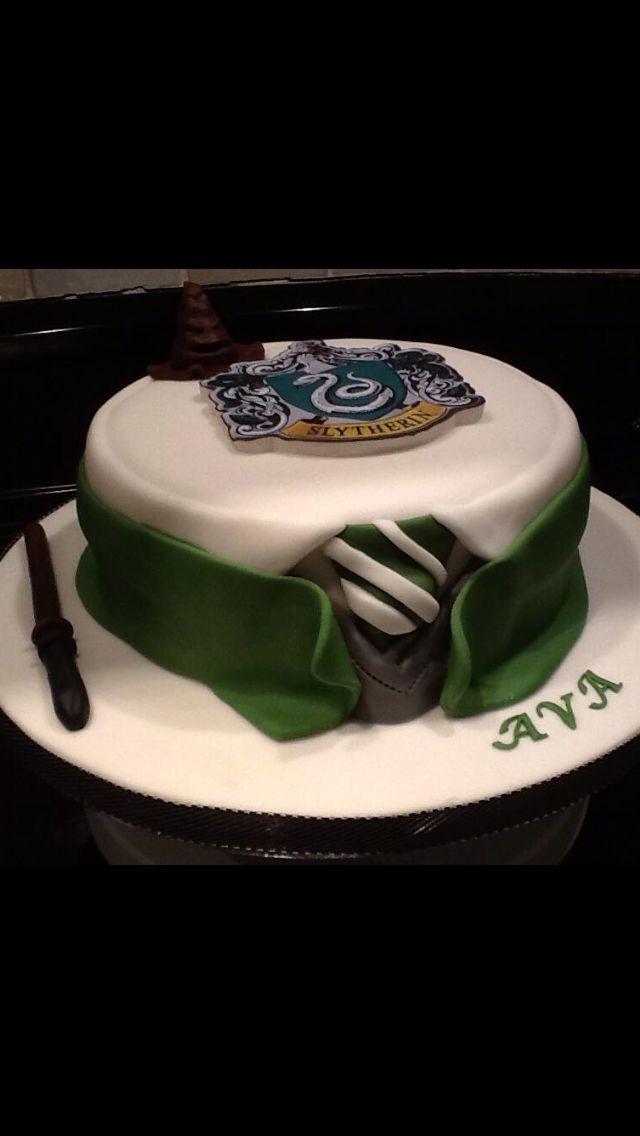 Slytherin house birthday cake bakeshopoakland birthdaycake