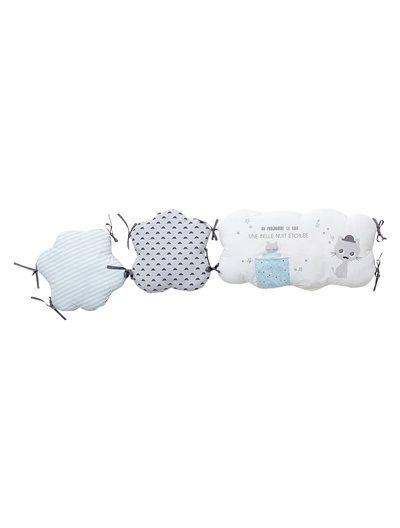 tour de lit bébé modulable thème miaous tach Tour de lit modulable MOUSTACHAT   gris/bleu | Pinterest | Baby  tour de lit bébé modulable thème miaous tach