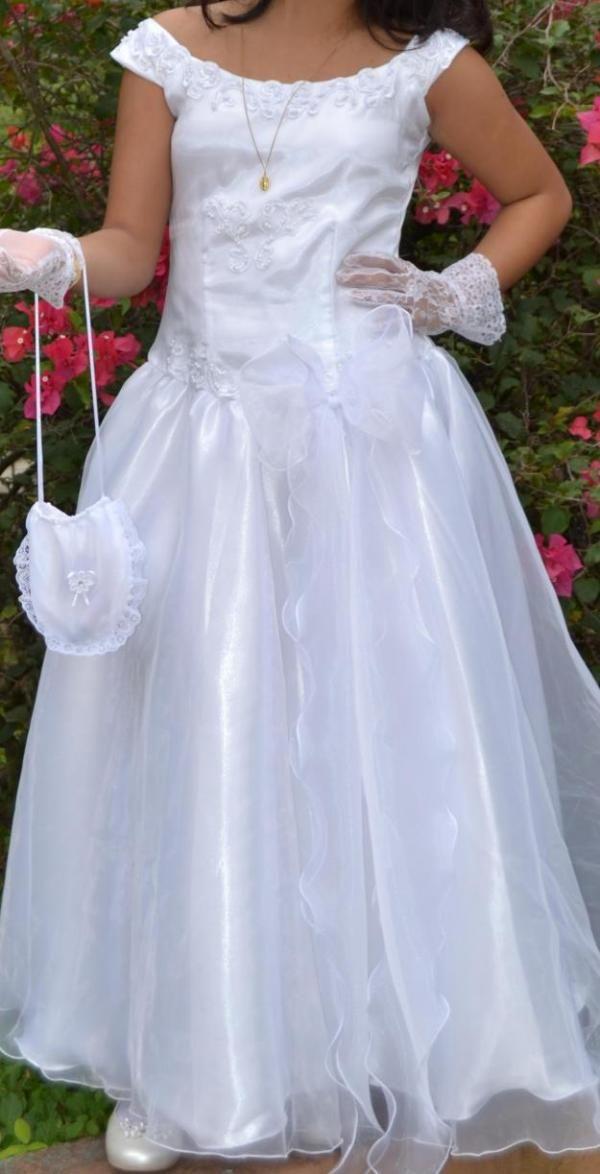 13f336131796c Vestido De Primera Comunión Para Niña 10 A 12 Años