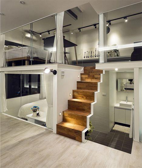 nd floor is living and wrap around windows deco studio tiny house heim also minimal interior design inspiration home pinterest apartment rh
